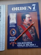 2007 Serbia Coin Numismatic Magazine Yugoslavia Medal Order Banknote Money ANTIQUE PHALERA KING MILAN OBRENOVIC DECREE - Magazines: Abonnements