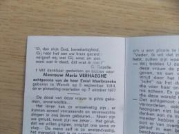 Doodsprentje Maria Verhaeghe Wervik 5/9/1919 - 7/10/1977 ( Emiel Maelbrancke ) - Religion &  Esoterik
