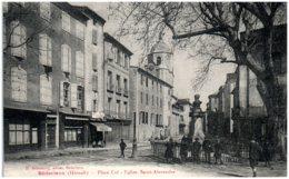 34 BEDARIEUX - Place Cot - Eglise Saint-Alexandre - Bedarieux