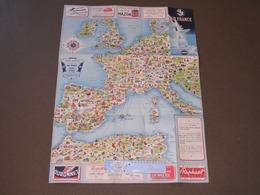 AIR FRANCE - CARTES ITINERAIRES DUNLOP - EUROPE AFRIQUE DU NORD - DECEMBRE 1953 - Mapas
