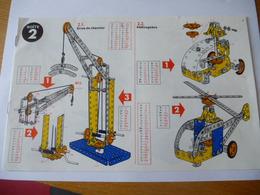 MECCANO : NOTICE De CONSTRUCTION Boîte 2 - 16 Modèles - Meccano