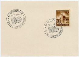 DT.REICH 1941, Nr. 806, SST LINZ-DONAU, STRASSENSAMMLUNG, SAMMLERBELEG! - Germany