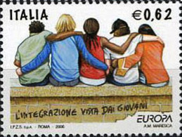 Italy 2006 1 V Used  EUROPA CEPT IMMIGRANTS INTEGRATION AS SEEN BY YOUNG PEOPLE - 2006