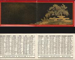 CALENDRIER DE POCHE Ancien Année 1935. Imp. Debar Reims. Décors Japon Paysage - Calendarios
