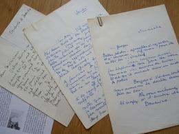Juliette LACAZE Dit DOMENICA WALTER (1898-1977) Surnommée LA DIABOLIQUE DE L'ART. Fauvisme. 3 X AUTOGRAPHE - Autographs