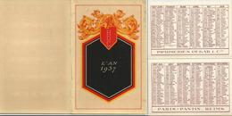 CALENDRIER DE POCHE Ancien Année 1937. Imp. Debar Reims. - Calendarios