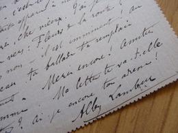 Albert LAMBERT (1847-1918) SCULPTEUR La Bouille ROUEN & Acteur Théâtre. AUTOGRAPHE - Autographs
