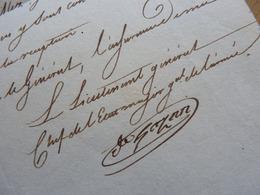 General EMPIRE (1813) Honoré GAZAN (1765-1845) BAYONNE Etat De Siège Par Napoleon. AUTOGRAPHE [ Retraite Espagne ] - Autographs