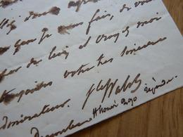 VICOMTE Joseph Alexis WALSH (1782-1860) Littérateur NANTES. Royaliste. AUTOGRAPHE - Autografi