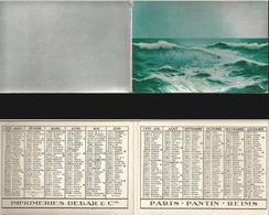 CALENDRIER DE POCHE Ancien Année 1939. Imp. Debar Reims. Décors Mer Vagues - Calendarios