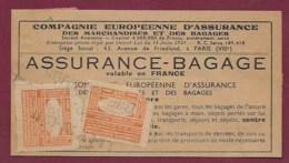 280819 - CHEMIN DE FER SNCF SUD OUEST Assurance Bagage VILLEFRANCHE DE LAURAGAIS - Gare Train - Bank & Insurance
