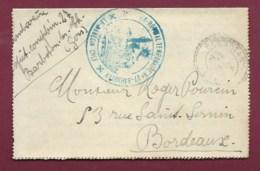 280819 - MILITARIA GUERRE 1914 18 - Lettre 7e Région HOPITAL MILITAIRE TEMPORAIRE N°27 BARBOTAN Gers - Marcofilie (Brieven)