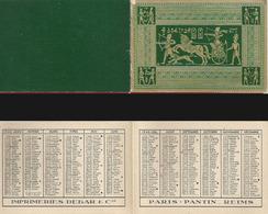 CALENDRIER DE POCHE Ancien Année 1946. Imp. Debar Reims. Décors Egypte Relief - Calendriers