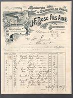 Septfonds (82 Tarn Et Garonne) Belle Facture J F BOSC  (chapeaux De Paille) 1900 (PPP20095) - Textile & Vestimentaire