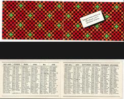 CALENDRIER DE POCHE Ancien. Année 1927. Imp. Debar Reims. Décors Cubique - Calendarios
