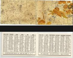 CALENDRIER DE POCHE Ancien. Année 1933. Imp. Debar Reims. Décors En Relief - Calendarios