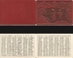 CALENDRIER DE POCHE Ancien. Année 1943. Décors Relief Japon Paysage Banzaï... - Calendriers
