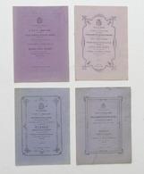 Lotto 4 Elenchi Allievi Meritevoli Scuole Di Casale Monferrato - 1869 / 1874 - Libros, Revistas, Cómics
