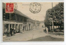 95 GENAINVILLE Carte RARE Anim Devant Charcuterie Place De L'Eglise  1935 Timb Edit Oger     D12 2019 - Francia