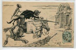 ILLUSTRATEUR RISLY Les Concurrents Déroulede En Don QuiChotte  Attaquant Palais Ely  POLITIQUE Satirique       D12 2019 - Altre Illustrazioni