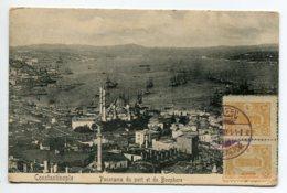 TURQUIE  CONSTANTINOPLE  Panorama Du Port Et Bosphore 1913 écrite Timbrée    D12  2019 - Turchia