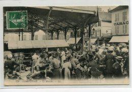 60 COMPIEGNE Les Halles Jour De Marché  LL 176- écrite 1912 Timbrée    D12 2019 - Compiegne