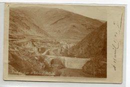66 OLETTE Vallée Rare CARTE PHOTO Pont De NYER Et Village 1903 écrite Et Timbrée    D12 2019 - Altri Comuni
