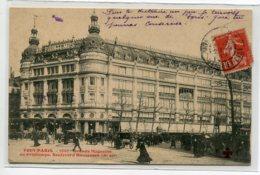 75 TOUT PARIS 1651  Boulevard Haussmann Grands Magasins Du Printemps  1907 Timbrée      D12 2019 - District 09