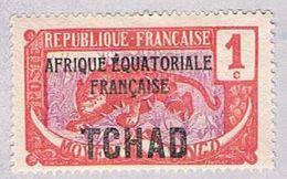 Chad 19 MLH Leopard Overprint 1924 (BP3125) - Chad (1960-...)