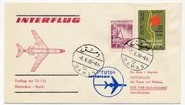 SYRIE - Premier Vol INTERFLUG TU 134 - DAMAS => BERLIN 3/6/1969 - Syrie