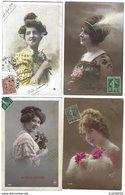 FRANCE - Lot De 76 CPA - Femmes - Années 1900-1910 - Frauen