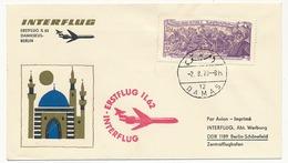 SYRIE - Premier Vol INTERFLUG IL 62 - DAMAS => BERLIN 2/8/1970 - Syrie
