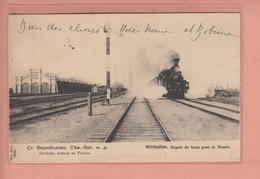 OLD POSTCARD - TRAIN TO RUSSIA - - LITHUANIA - WIRBALLEN - Lithuania