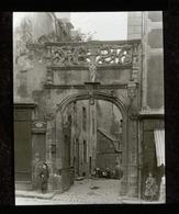 Ornate Doorway Or Arch, BRITTANY, FRANCE - Magic Lantern Slide (lanterne Magique) - Plaques De Verre