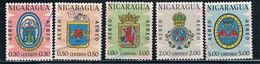Nicaragua C510-14 Used Set Coat Of Arms CV 1.65 (N0309) - Nicaragua
