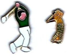 GOLF - G19 -  2 Pin's GOLFEURS - Verso : SM - Golf