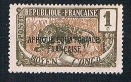 Middle Congo 23 MLH Leopard Overprint (BP1088) - Congo - Brazzaville