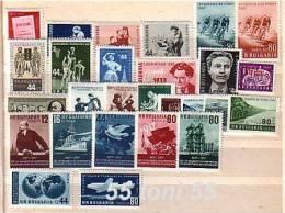 1957 Compl.-MNH Yvert  Nr-883/908+P.A.73 BULGARIA / Bulgarie - Bulgaria