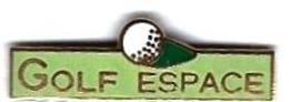 GOLF - G21 - GOLF ESPACE - BALLE DE GOLF - Verso : AUBERT - Golf