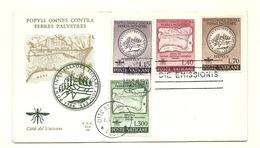 1962 - Vaticano 326/26 Lotta Alla Malaria    FDC - Malattie