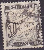 France Timbre Taxe 30c  N° 17 Noir Type Duval  Année 1881-92 Oblitéré TB - 1859-1955 Oblitérés