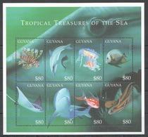 X712 GUYANA FISH & MARINE LIFE TROPICAL TREASURES OF THE SEA 1KB MNH - Vie Marine