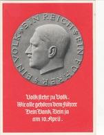 """Propaganda Karte, Volk Steht Zu Volk ..., Stempel """" Geburtstatg Des FÜHRERS GRAZ """" - Weltkrieg 1939-45"""