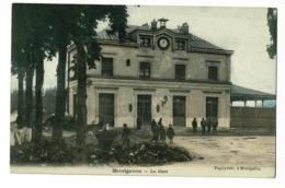 Montgeron - La Gare (extérieur, Travaux En Cours) Pas Circulé - Montgeron