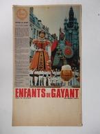 """Pub 42cm/24cm Bière Sazz """"Les Enfants De Gayant"""" Douai (59). - Autres Collections"""