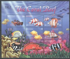 X718 MICRONESIA MARINE FISH LIFE CORAL REEF 1KВ MNH - Vie Marine