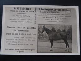 92  LEVALLOIS  CARTE - PHOTO  Marc  FAUCHIER,  Officier  De  Cavalerie  De  Réserve,  3,  Rue  Pasquier - Levallois Perret