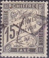 France Timbre Taxe 15c  N° 16 Noir Type Duval  Année 1881-92 Oblitéré TB - 1859-1955 Used