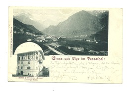 AK Vigo Di Fassa - Gasthof Krone - 1901 - Italie