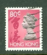Hong Kong: 1992   QE II    SG706      80c       Used - Hong Kong (...-1997)